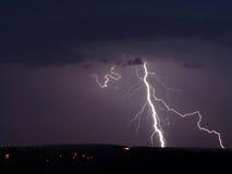 Lightning storm. Storm lightning weather night rain Stock Image