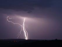 Lightning storm. Storm lightning weather night rain Royalty Free Stock Photos