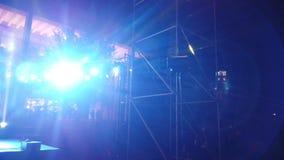 Lighting at street concert in Tirana stock footage