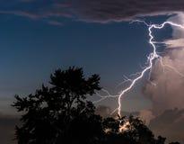 Lighting Strike. Lightning Strike during a storm Stock Photo