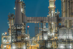 Lighting from structure of oil and chemical factory Royalty Free Stock Photos