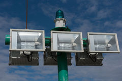 Lighting system for the harbour Stock Photography