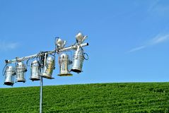 Lighting system. The Lighting system on the hill Royalty Free Stock Photography