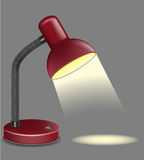 Lighting table lamp vector illustration Royalty Free Stock Photo
