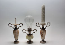 candlestick holders  Royalty Free Stock Images