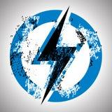 Lighting thunder sign. Royalty Free Stock Image