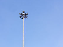Lighting tower. High power light tower and blue sky Stock Photography