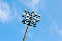 Lighting tower. Of stadium with blue sky Royalty Free Stock Image