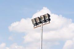 Lighting tower of stadium Royalty Free Stock Photos