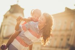 Lighting up her whole world with love and care. royalty free stock photo