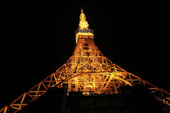 Lighting up of Tokyo tower Royalty Free Stock Images