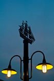 Lighting of vintage street lamp Stock Photos