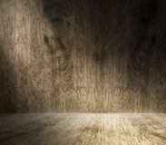 Lighting from window in empty hardwood room,Background for displ Royalty Free Stock Image
