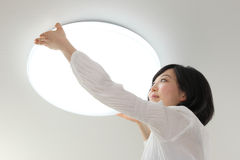 Lighting & Women Stock Photo