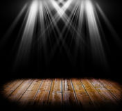 Lighting on a wooden floor Royalty Free Stock Photos