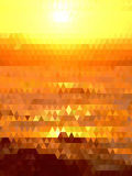 Lighting of yellow and brown triangles background Stock Image