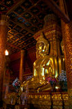 Lighting yellow of buddha. Beautiful of Lighting light-colored of Buddha royalty free stock photos