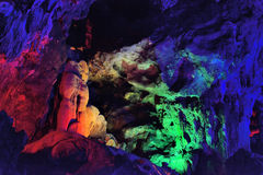 Lighting in YuHua Cave, Fujian, China Stock Photos