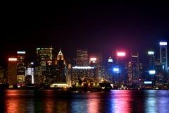 Lightings of Hongkong Victoria harbor, 2016. Night view and lightinging of Hongkong victoria harbor Stock Image