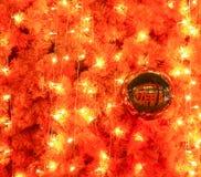 Lightings and sparkle ball. Decoration of Christmas tree Stock Image