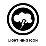 Lightining icon vector isolated on white background, logo concep. T of Lightining sign on transparent background, filled black symbol stock illustration
