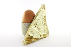 Lightly Boiled Egg and Toast Royalty Free Stock Image