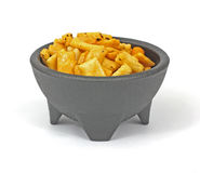 Lightly Glazed Oriental Snack Mix Royalty Free Stock Photography