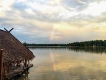 Lightly rainbow royalty free stock image