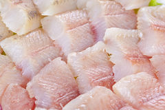 Lightly salted grayling. Fillet of a lightly salted grayling closeup Royalty Free Stock Photos