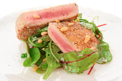 Lightly seared tuna steak Royalty Free Stock Photography