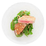 Lightly seared tuna steak, isolated Stock Photo