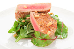 Lightly seared tuna steak Stock Photo