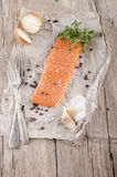 Lightly smoked irish salmon fillet Stock Image