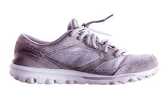 Lightly used grey sports shoe Royalty Free Stock Photography