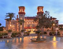 Lightner Museum and Town Square Alcazar Square in St Augustine, Florida royalty free stock photos