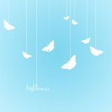 Lightness. With butterflies. Illustration is on the sky blue background Stock Photography