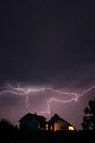 Lightning. In the night Royalty Free Stock Images