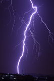 Lightning. A tremendous flash of lightning before the typhoon comes in Guangzhou China Royalty Free Stock Photo