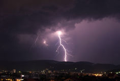 Lightning. In the night Royalty Free Stock Photography