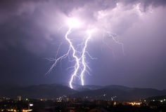 Lightning. In the night Royalty Free Stock Photos
