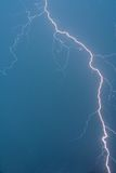 Lightning. During storm from up to down Royalty Free Stock Photography