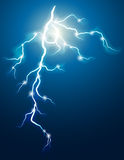 Lightning. Vector illustration - lightning in the dark sky stock illustration