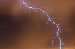 Lightning. Over the city Royalty Free Stock Photography