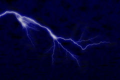 Lightning. Big lightning on dark night sky Royalty Free Stock Photography