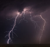 Lightning. In the rain sky Stock Photography