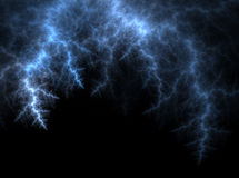 Lightning. Fractal rendering resembling lightning on black sky Royalty Free Illustration