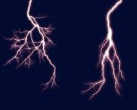 Lightning 2. Lightning bolts against dark backround royalty free stock photos