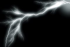 Lightning. Grayscaled picture of a lightning bolt on a black background vector illustration