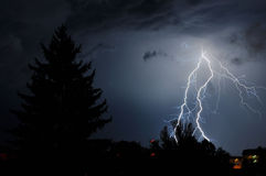 Lightning. Beautiful Lightning in Campina city Royalty Free Stock Photo