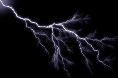 Lightning. Generic lightning on black background, landscape orientation royalty free illustration